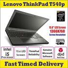 "Lenovo Windows 10 Laptop 15.6"" Thinkpad T540p Core I5 4th Gen 8gb 128gb Ssd"