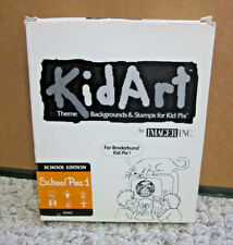 Kidart vtg software Apple Broderbund Kid Pix School Pac 1 floppy discs Mac