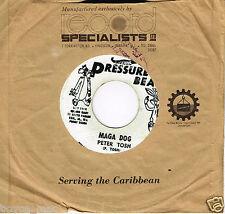 "pressure beat 7"" : PETER TOSH-maga dog   (hear)"