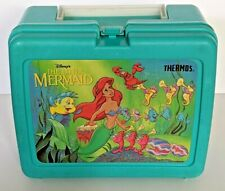 Vintage Disney Little Mermaid Thermos Lunch Box Container *Rare*