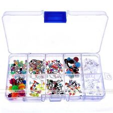 160x Body Piercing Jewelry Eyebrow Nose Lip Belly Navel Ring + Flexible Retainer