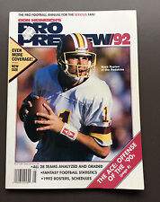 DON HEINRICH'S 1992 NFL FOOTBALL PREVIEW Annual Magazine Guide VG+ Rypien Cover