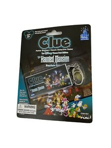 CLUE HAUNTED MANSION Disney Theme Park Edition Mini Key Chain Game FREE SHIPPING