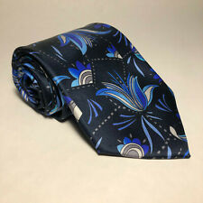 Men's Vitaliano Pancaldi Multicolor Floral Design Silk Neck Tie Made In Italy