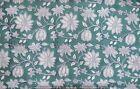 Indian Cotton Hand Block Print Fabric Dressmaking Running Loose Sewing 3 Yard