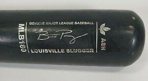 "Louisville Slugger Authentic MLB180 Black Ash Buster Posey Wood Baseball Bat 33"""