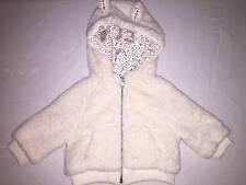 Baby Gap White Fur Ears Coat Jacket Llama Dog Sz 12 18 months New