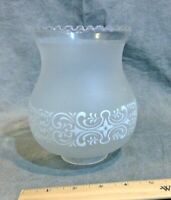 "COLONIAL LAMP GLOBE ETCH WHITE DESIGN LAMP GLASS SHADE 2 1/2"" fit."