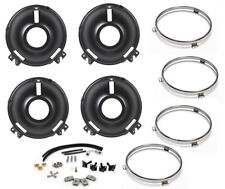 New! 1969 Ford MUSTANG Front Headlight Buckets Complete Rebuild Kit w/ Rings HW