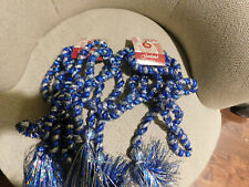 Enchanted Forest Blue & Silver Garland Strands • 9 Feet • Set of 2