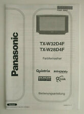 Panasonic Bedienungsanleitung TX-W32D4F -W28D4F - Farbfernseher - DE