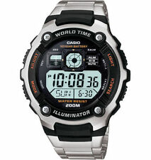 Casio Digital Men's Watch, 200 Meter WR, 5 Alarms, Chronograph, AE2000WD-1AV