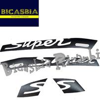 11578 - ADESIVI TARGHETTE NERE SCRITTA SUPER TRASPARENTE VESPA GTS 125 250 300