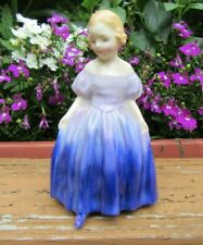 Pretty Vintage Royal Doulton Lady Figurine Marie in Purple Dress Hn 1370
