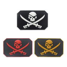 Lot 3 Pcs 3D Pvc Jolly Roger Pirate Skull Swords Tactical Morale Hook Patch