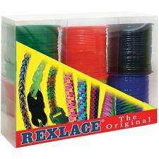 Rexlace Craft Lace Gimp & Lanyard String 6 Primary Colors  50 Yard Spools