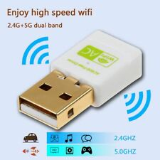Portable USB Wireless WiFi Adapter Dual-band 2.4GHz/5GHz 600M 11AC Network Card