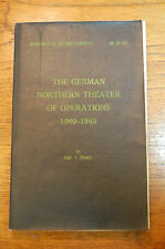 German Northern Theater of Operations 1940 -1945 Ziemke 1959 Army Military WWII