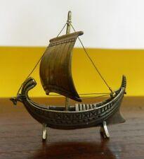Riproduzione imbarcazione fenicia in Argento 800 5,5cm x 5,5cm OMA19