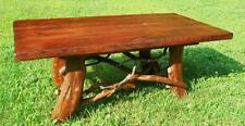 Tree Trunk Rustic Wood Coffee Table Log Cabin Adirondack Furniture FREE SHIPPING
