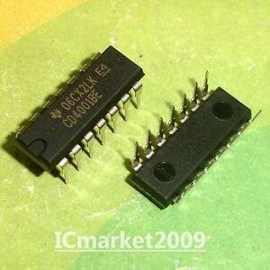 100 PCS CD4001BE DIP-14 CD4001 Quad 2-Input NOR NAND Buffered B Series Gate Chip