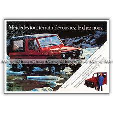 PUB MERCEDES-BENZ CLASSE G 4X4 Geländewagen Original Advert / Publicité 80's #1