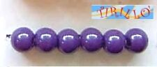 BIGIOTTERIA PERLINE - 30 palline perle di plastica 14mm- Viola