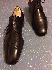 Men's Gucci 108415 Black Leather Concealed Lace Up Shoes UK 8 EU 42 E US 9