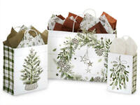 PINE HOLIDAY Shopping Gift Paper Bag Only Choose Size & Pack Amount