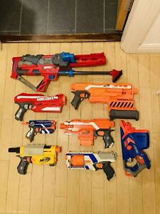 Nerf Gun Bundle - Including Boom, Magnus, Firestrike, Demolisher, Strongarm Etc