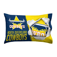 North QLD Queensland Cowboys NRL Pillow Case Pillowcase Birthday Gift *NEW 2018*