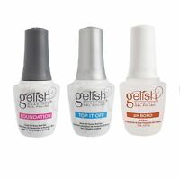 Gelish Terrific Trio Essentials Collection Soak Off Gel Nail Polish Kit, 15 mL