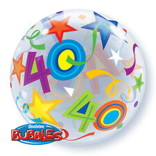 "40th Birthday Party Decoration 22"" Brilliant Stars Bubble Balloon"