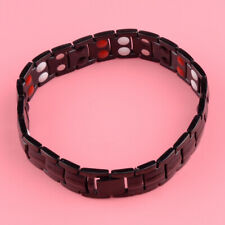 Mens Titanium Bio Magnetic Healing Bracelet Bangle Cuff Arthritis Pain Relief