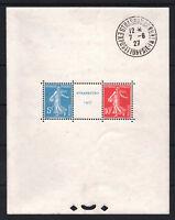 "FRANCE BLOC FEUILLET 2a "" STRASBOURG 1927 "" NEUF xx AVEC CACHET EXPOSITION T746"