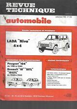 revue technique automobile N°435 LADA NIVA 4X4 1983 +évolution PEUGEOT 104- R18