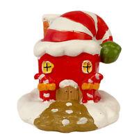 2″ Christmas Village Figurine Hand Crafted Décor House Resin Santa House