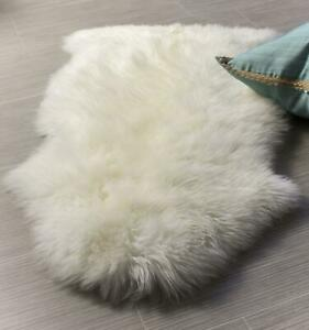 Genuine Australian Thick Sheepskin Rug One Pelt Natural Fur, Single 2' x 3'