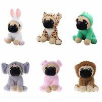"Large Plush Toys 8"" Pug Dog 7 Costumes Cuddly Soft Toy Teddy Plush Animal Cute"