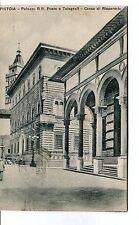1938 Pistoia Palazzo R.R. Poste e Telegrafi Cassa di Risparmio FP B/N VG ANIM