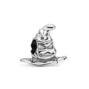 SORTING HAT Harry Potter House European Charm & Gift Pouch- Silver Plated