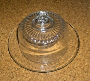 ARCOROC 20 FRANCE GLASS COVERED CHEESE DISH SERVE WARE KITCHENWARE VINTAGE
