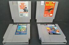 (4) Nintendo Games Commando Wrath of the Black Manta Golgo 13 Mission Impossible