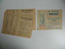 BILLET LOTERIE  tirage 1906