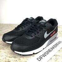 Nike Air Max 90 Black/Particle Grey/University Red CW7481 002 Men's 10.5 New