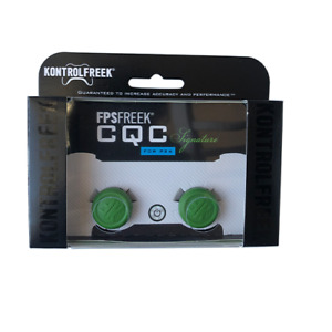 Kontrol Freek PS4 & PS5 Controller Thumb Grips CQC Signature FPS 2pc Green - NEW