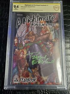 A Nightmare on Elm Street Fearbook signed by Robert Englund Freddy Krueger cbcs