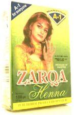5 X 100g Packs Zarqa Dark Red Hair & Body Natural Henna Powder Mendhi Patterns