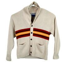 Mens Pendleton Western Geometric Lambswool Cardigan Sweater Size Large