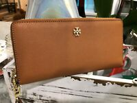 Tory Burch York Zip Around Passport Continental Travel Wallet Wristlet Luggage